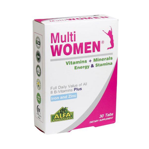 قرص مولتی ویتامین مینرال مولتی وومن آلفا